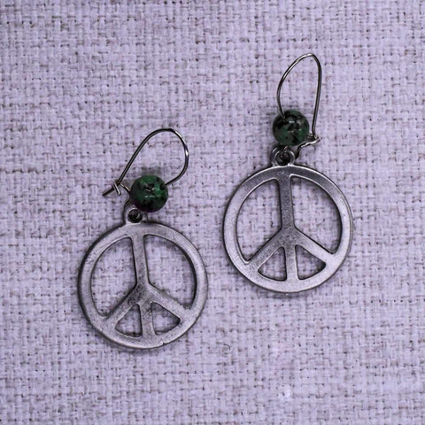 Peace Sign Ear Rings