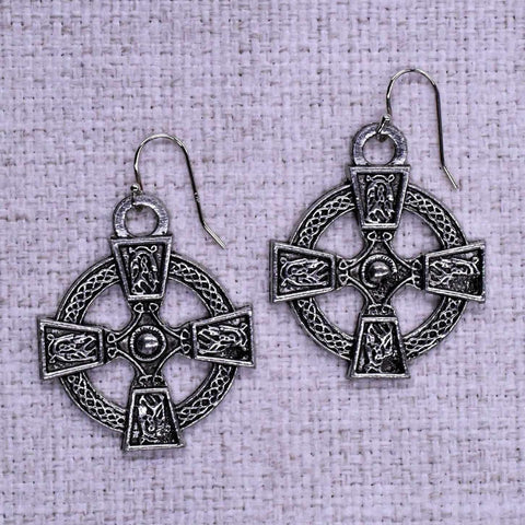 Celtic Cross Ear Rings