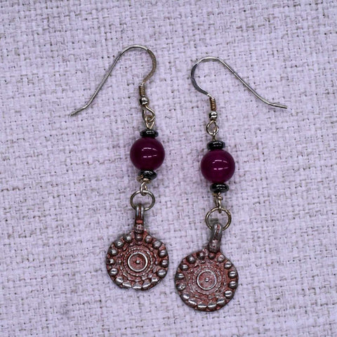 Ornate Hamsa Ear Rings