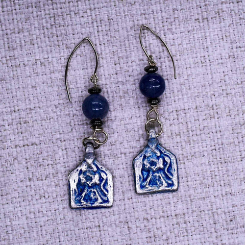 Small Hieroglyph Ear Rings