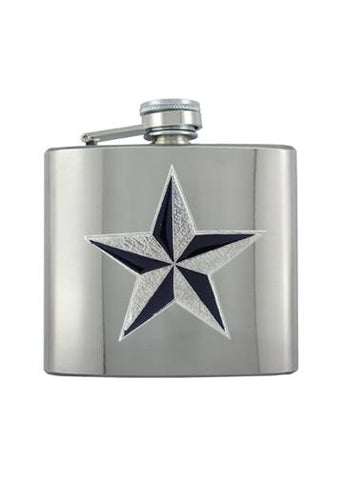 Nautical Star Chrome Flask - The Alley Chicago