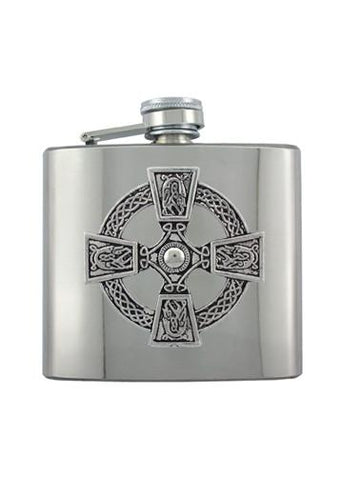 Celtic Cross Chrome Flask - The Alley Chicago