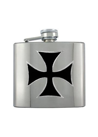 Iron Cross Chrome Flask - The Alley Chicago