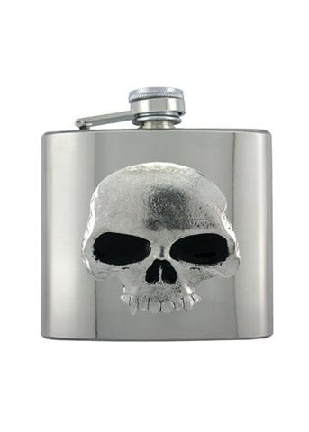Classic Vampire Skull Chrome Flask - The Alley Chicago