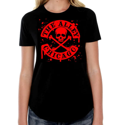 The Alley Blood Splatter Womens Tshirt