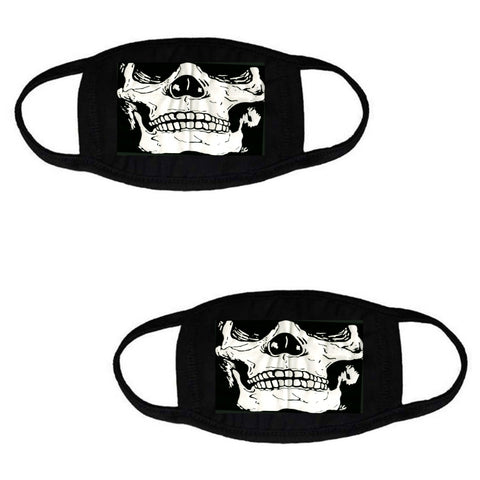 Skull Cotton Stretch Face Covering 2-Pack