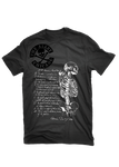 The Alley Chicago Medical Illustration with Skeleton torso with handwritten note T-Shirt - The Alley Chicago