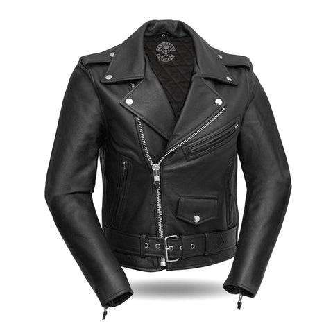 Classic Womens Leather Motorcycle Jacket