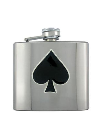 Ace of Spades Chrome Flask - The Alley Chicago