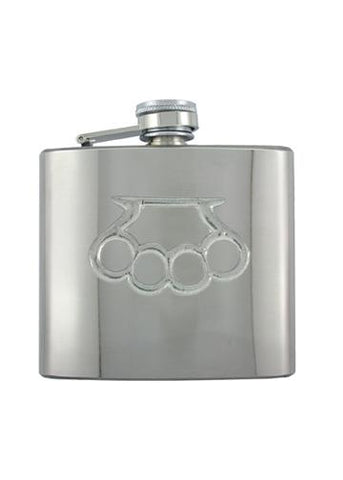 Brass Knuckles Chrome Flask - The Alley Chicago