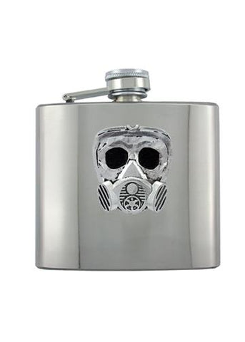 Gas Mask Chrome Flask - The Alley Chicago