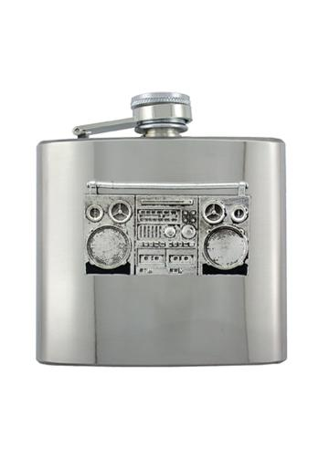 Ghetto Blaster Boombox Chrome Flask - The Alley Chicago