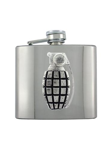 Hand Grenade Chrome Flask - The Alley Chicago