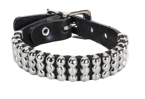 3 Row Spherical Studded Bracelet