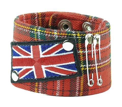 Union Jack Red Flannel Bracelet