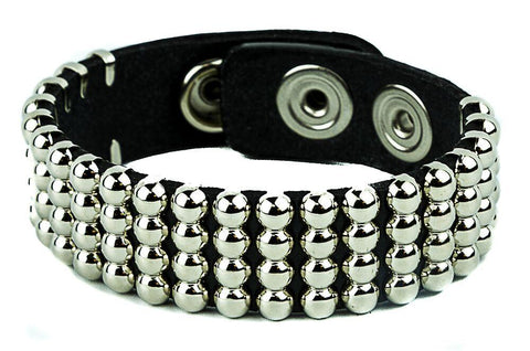 4 Row Spherical Studded Bracelet