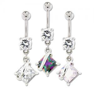 Fancy CZ Belly Ring
