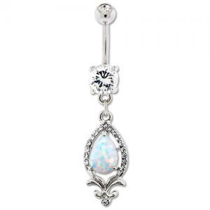 OPAL DANGLE BELLY RING