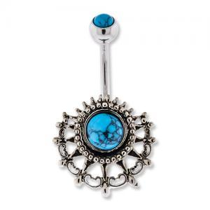 ANTIQUE TRIBAL BELLY RING