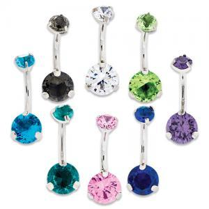 BLUE SWAROVSKI ZIRCONIA BELLY RING