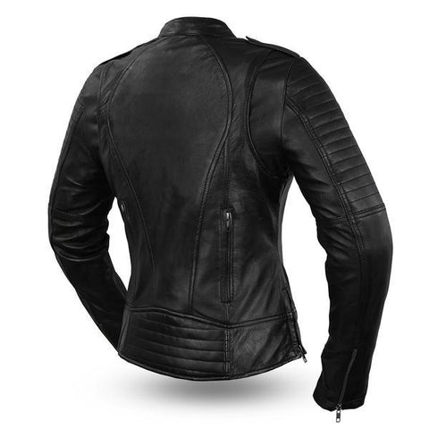 The Biker Womens Leather Motorcycle Jacket