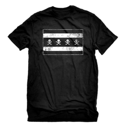 Chicago Flag Skulls Tshirt