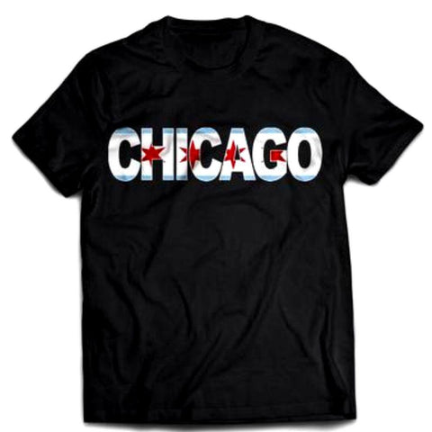 Chicago Flag Text Tshirt