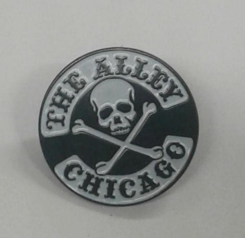 The Alley Classic Skull Logo Hat Pin