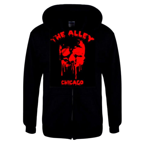The Alley Bloody Red Horror Skull Hoodie