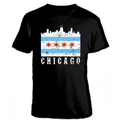 Chicago Flag Skyline Tshirt