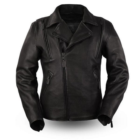 The Night Rider Leather Motorcycle Jacket