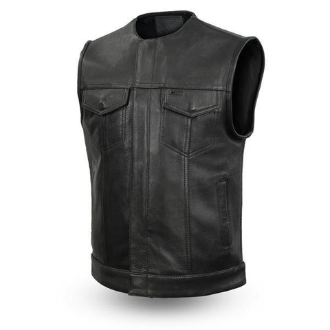 Highside Black Leather Vest