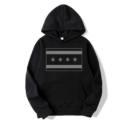 Tactical Chicago Flag Pull Over Hoodie