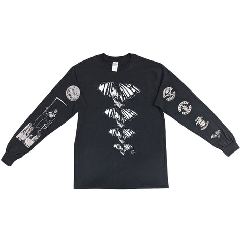 Long Sleeve Alley Bats Tshirt with Printed Sleeves