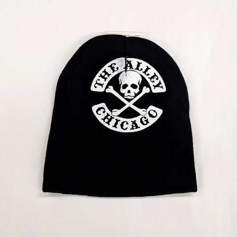 The Alley Classic Skull Logo Knit Beanie Hat
