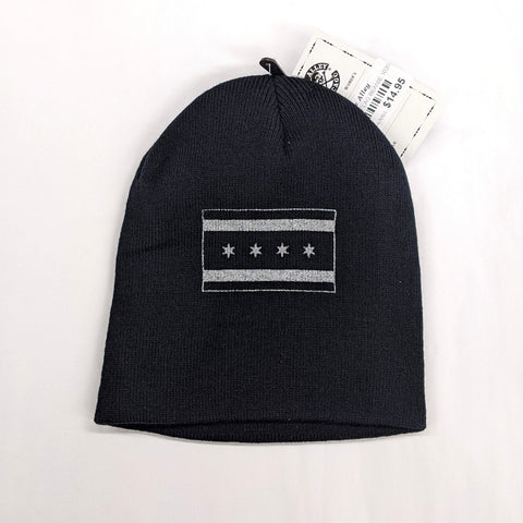 Tactical Chicago Flag Knit Beanie Hat