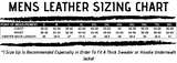 Mens Leather Jacket Sizing Chart | The Alley