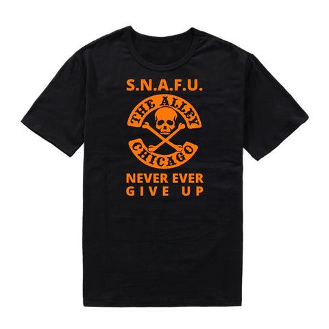SNAFU Never Ever Give Up Tshirt
