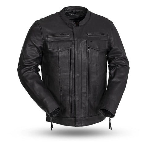 The Raider Mens Scooter Style Leather Motorcycle Jacket | The Alley