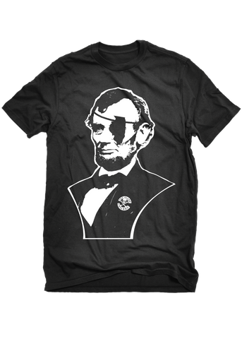 The Alley Chicago Lincoln Eye Patch Mens T-shirt - The Alley Chicago