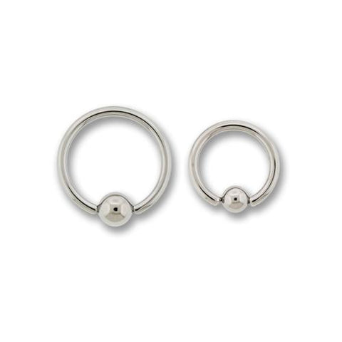 14G HIGH POLISH TITANIUM CAPTIVE BEAD RINGS
