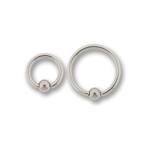 16G HIGH POLISH TITANIUM CAPTIVE BEAD RINGS