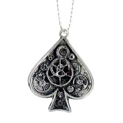 Jewelry - Steampunk Ace Of Spades Ball Chain Necklace
