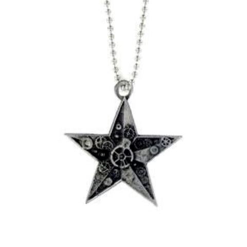 Steampunk Nautical Star Ball Chain Necklace
