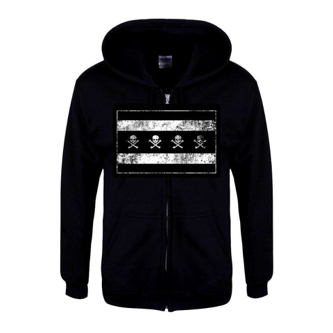 The Alley Chicago Skull Flag Hoodie