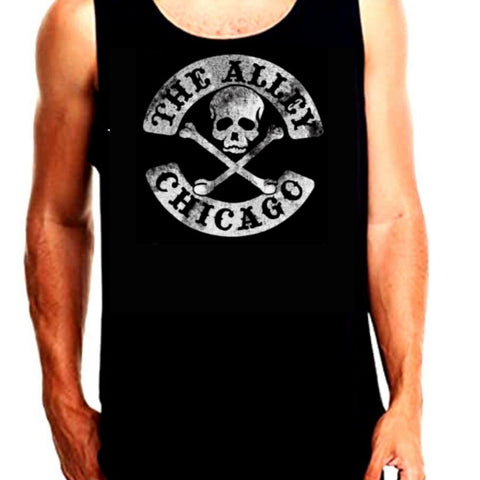 The Alley Vintage Skull and Crossbones Tank Top
