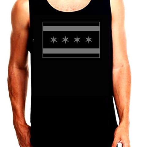 Tactical Chicago Flag Tank Top