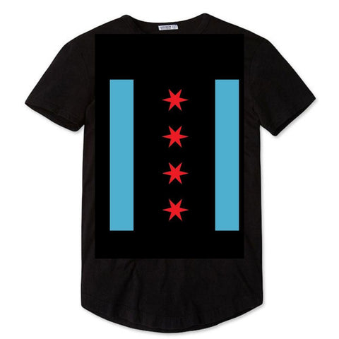 Vertical Chicago Flag Tshirt