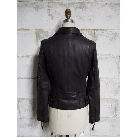 Troublemaker Women's Brown Leather Jacket