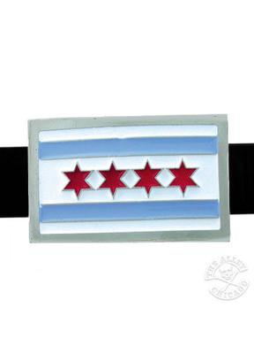 Chicago Flag Belt Buckle - The Alley Chicago